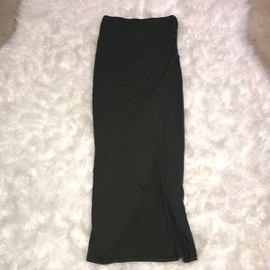 Dresses & Skirts - Olive green High waisted maxi skirt